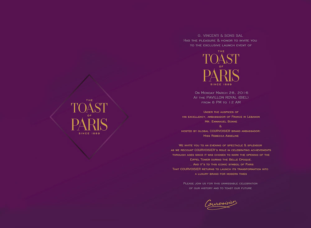 "COURVOISIER - ""The Toast of Paris"""
