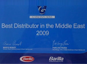 BARILLA BEST DISTRIBUTOR IN THE MIDDLE EAST